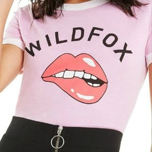NWT Wildfox Bite Johnny Ringer Pink T-Shirt